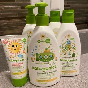 Babyganics Shampoo+BodyWash+Lotion+Sunscreen